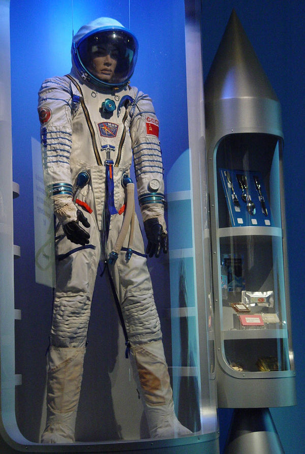 Space suits (here a Sokol KW-2) must not be missing
