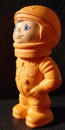 Small toy cosmonaut from the former GDR