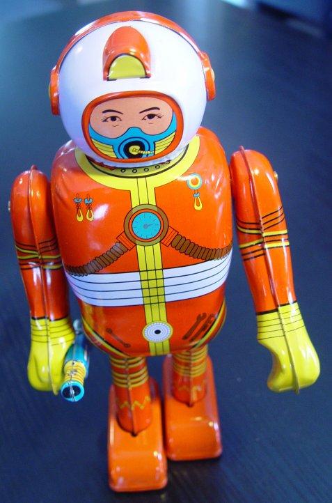 Kleiner Spielzeug-Astronaut MS 300