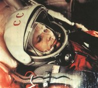 Gagarin aboard the Vostok 1